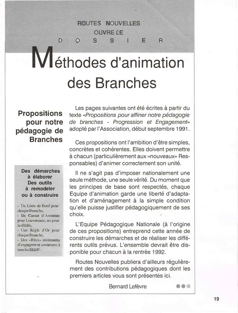RN n 129 jun jui 1987 Méthode dAnimation Visualisation Page 1 Page 01